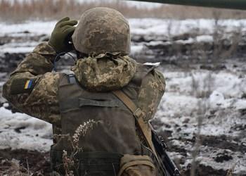 اصابة جندي اوكراني بجروح بعد قنصه بالقرب من بيسكي