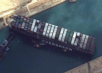 السفينة المنحرفه في قناة السويس إيفر غرين