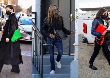 جينيفر أنيستون وسيلينا جوميز يرتدون حقيبة لورا هارير الجديدة المثالية لفصل الربيع