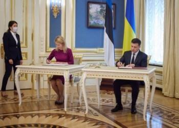 زيلينسكي وكالاس يصدران بيان يؤكد على دعم استونيا لاوكرانيا، صور