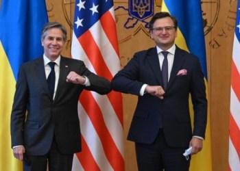 وزير الخارجية الاوكراني دميتري كوليبا يلتقي نظيره الامريكي في كييف