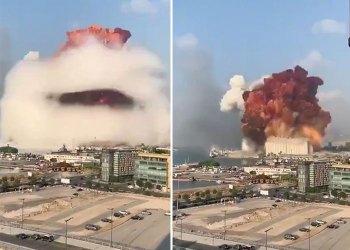انفجار ضخم في مكتب كبير المحامين في بيروت