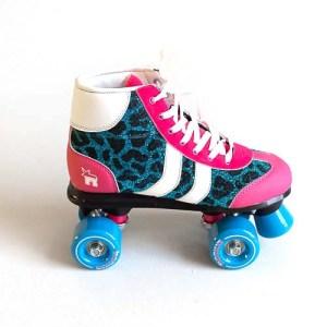 Rookie Retro Roller Skates - Blue Glitter / Pink