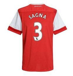 2010-11 Arsenal Nike Short Sleeve Home Shirt (Sagna 3) - Kids