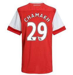 2010-11 Arsenal Nike Short Sleeve Home Shirt (Chamakh 29)