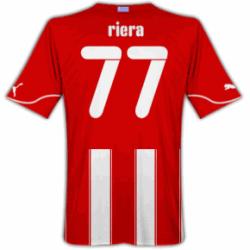 2010-11 Olympiakos Puma Home Shirt (Riera 77)