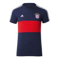 2017-2018 Bayern Munich Adidas 3S Lifestyle Tee (Navy)
