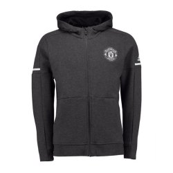 2017-2018 Man Utd Adidas Anthem Jacket (Dark Grey) - Kids