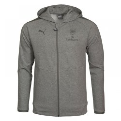 2017-2018 Arsenal Puma Casual Performance Zip Hoody (Grey)