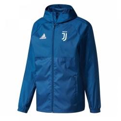 2017-2018 Juventus Adidas Rain Jacket (Blue) - Kids