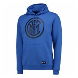 2017-2018 Inter Milan Nike Core Hooded Top (Blue)
