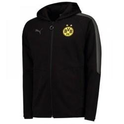 2017-2018 Borussia Dortmund Puma Casuals Hoodie (Black)