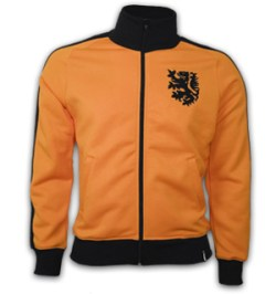 Holland 1970's Retro Jacket polyester / cotton (Orange)