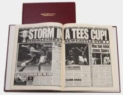 Middlesbrough Football Newspaper Book