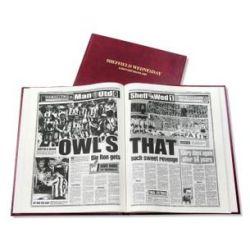 Sheffield Wednesday Football Newspaper Book