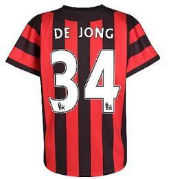 2011-12 Manchester City Umbro Away Shirt (De Jong 34)