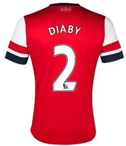 2012-13 Arsenal Nike Home Shirt (Diaby 2) - Kids