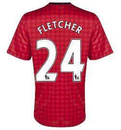 2012-13 Man Utd Nike Home Shirt (Fletcher 24) - Kids