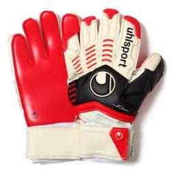 Ergonomic Supersoft Goalkeeper Gloves White/Black/Red