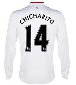 2012-13 Man Utd Long Sleeve Away Shirt (Chicharito 14) - Kids