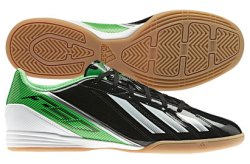 F10 IN Football Trainers Black/Green Zest/Running White