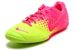 Nike5 Elastico IC Indoor Kids Football Trainers Volt/Pink Flash