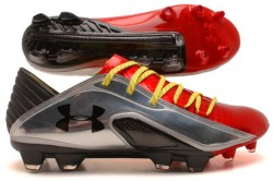 Spine Blur CBN III FG Football Boots Dark Orange/Metallic Silver/Black