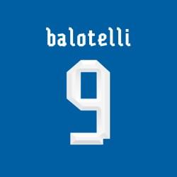 2013-14 Mario Balotelli Italy Home Shirt Printing