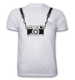 Mens WC Photographer Basic T and White 100% cotton