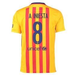 2015-16 Barcelona Away Shirt (Iniesta 8)