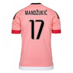 2015-16 Juventus Away Shirt (Mandzukic 17) - Kids