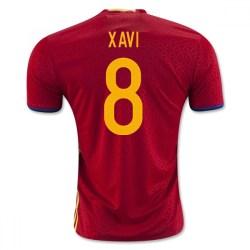2016-2017 Spain Home Shirt (Xavi 8)