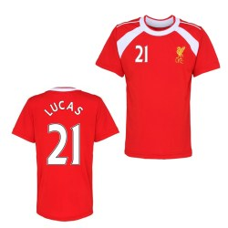 Official Liverpool Training T-Shirt (Red) (Lucas 21)