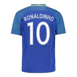 2016-17 Brazil Away Shirt (Ronaldinho 10)