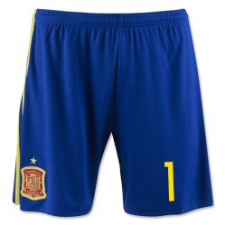2016-17 Spain Home Shorts (1) - Kids