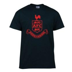 Airdrieonians Core Logo T-Shirt (Black)