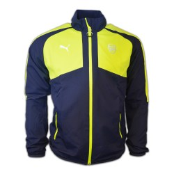2016-2017 Arsenal Puma Casual Performance Woven Jacket (Peacot-Yellow) - Kids