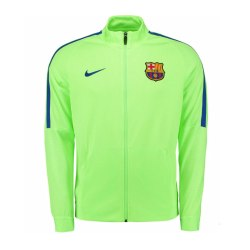 2016-2017 Barcelona Nike Revolution Strike Jacket (Ghost Green)