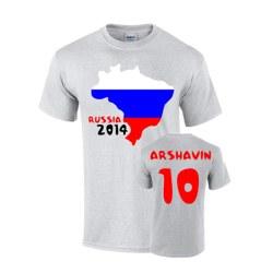 Russia 2014 Country Flag T-shirt (arshavin 10)