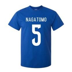Yuto Nagatomo Japan Hero T-shirt (blue)