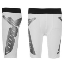 Nike Pro Combat Hyperstrong Compression Slider Shorts (white)