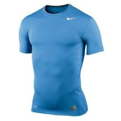 Nike Pro Core Baselayer Tee (blue)