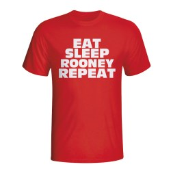 Eat Sleep Rooney Repeat T-shirt (red)