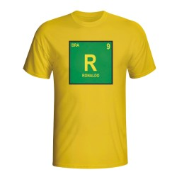 Ronaldo Brazil Periodic Table T-shirt (yellow) - Kids
