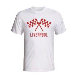 Liverpool Waving Flags T-shirt (white) - Kids