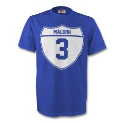 Paolo Maldini Italy Crest Tee (blue)