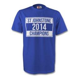 St Johnstone 2014 Champions Tee (blue)