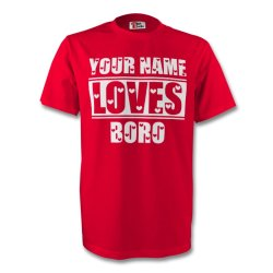 Your Name Loves Boro T-shirt (red) - Kids