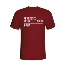 Francesco Totti Roma Squad T-shirt (maroon)