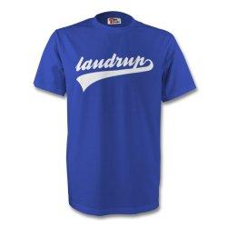 Brian Laudrup Rangers Signature Tee (blue)